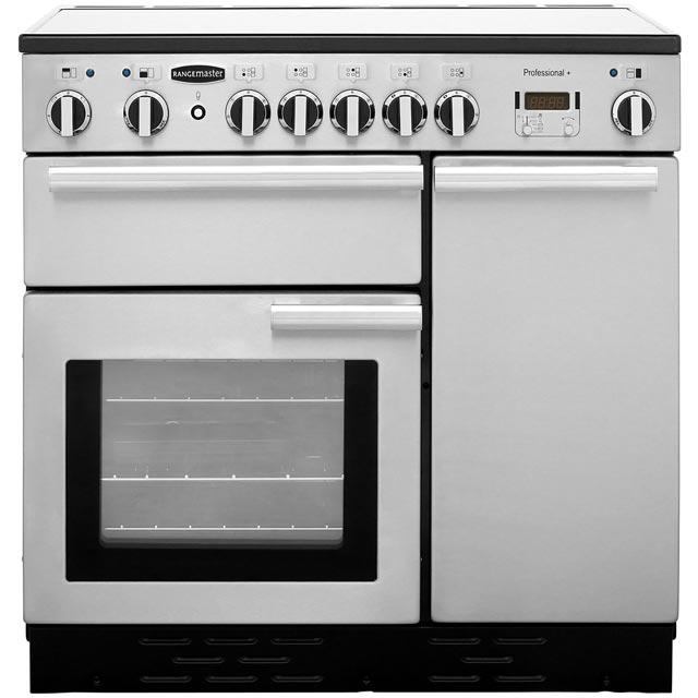 Rangemaster Professional Plus PROP90ECSS/C 90cm Electric Range Cooker with Ceramic Hob - Stainless Steel - A/A Rated - PROP90ECSS/C_SS - 1