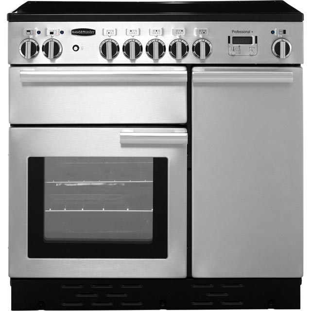 Rangemaster Professional Plus PROP90EISS/C 90cm Electric Range Cooker with Induction Hob - Stainless Steel - A/A Rated - PROP90EISS/C_SS - 1