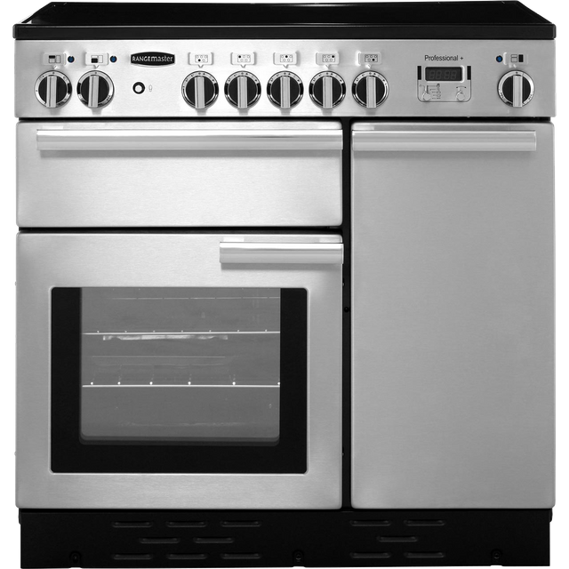 Rangemaster Professional Plus PROP90EISS/C 90cm Electric Range Cooker with Induction Hob - Stainless Steel - A/A Rated