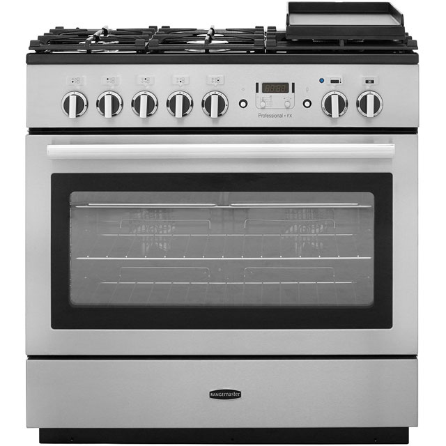 Rangemaster PROP90FXDFFSS/C Professional Plus FX 90cm Dual Fuel Range Cooker - Stainless Steel / Chrome - PROP90FXDFFSS/C_SS - 1