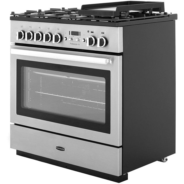 Rangemaster PROP90FXDFFCY/C Professional Plus FX 90cm Dual Fuel Range Cooker - Cranberry / Chrome - PROP90FXDFFCY/C_CY - 2