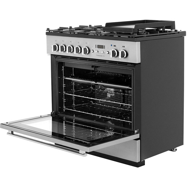 Rangemaster PROP90FXDFFCY/C Professional Plus FX 90cm Dual Fuel Range Cooker - Cranberry / Chrome - PROP90FXDFFCY/C_CY - 3