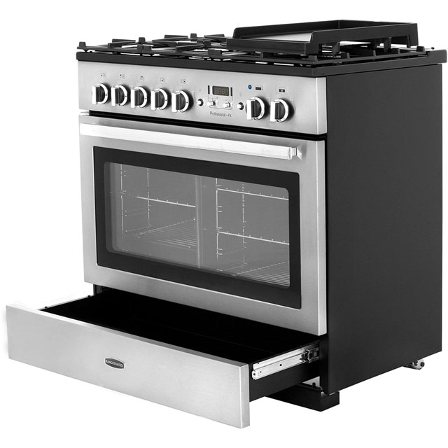 Rangemaster PROP90FXDFFCY/C Professional Plus FX 90cm Dual Fuel Range Cooker - Cranberry / Chrome - PROP90FXDFFCY/C_CY - 5