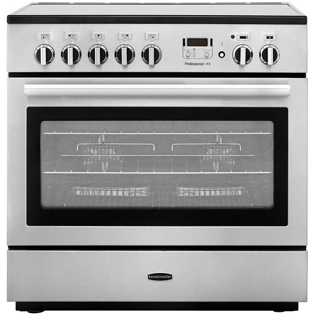 Rangemaster Professional Plus FX PROP90FXEISS/C 90cm Electric Range Cooker with Induction Hob - Stainless Steel - A Rated - PROP90FXEISS/C_SS - 1