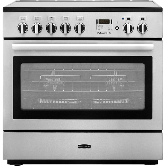Rangemaster Professional Plus FX PROP90FXEISS/C Electric Range Cooker - Stainless Steel - PROP90FXEISS/C_SS - 1