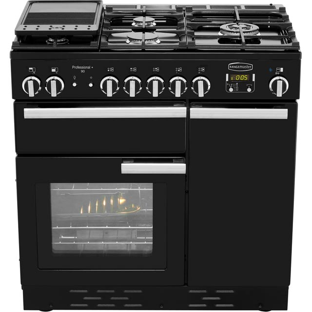Rangemaster PROP90NGFCY/C Professional Plus 90cm Gas Range Cooker - Cranberry - PROP90NGFCY/C_CB - 5