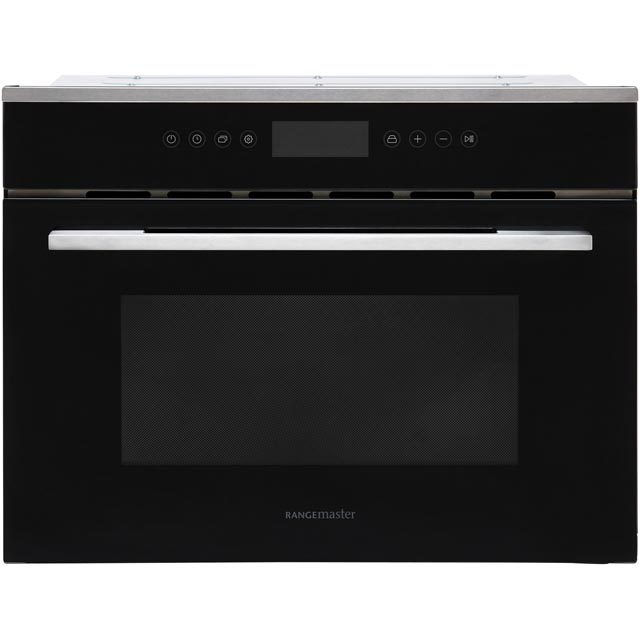 Rangemaster RMB45MCBL/SS Built In Combination Microwave Oven - Black - RMB45MCBL/SS_BK - 1