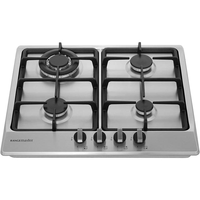 Rangemaster RMB60HPNGFSS Built In Gas Hob - Stainless Steel - RMB60HPNGFSS_SS - 4