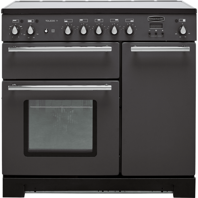 Rangemaster Toledo + TOLP90EISL/C 90cm Electric Range Cooker with Induction Hob - Slate - A/A Rated