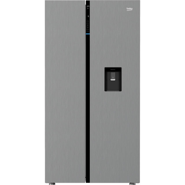 Beko RASGD242PX American Fridge Freezer - Brushed Steel - A+ Rated