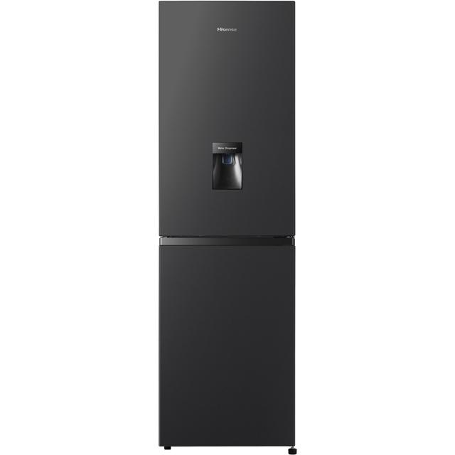 Hisense RB327N4WB1 182x55cm 251L Freestanding Fridge Freezer With Non-plumb Water Dispenser - Black
