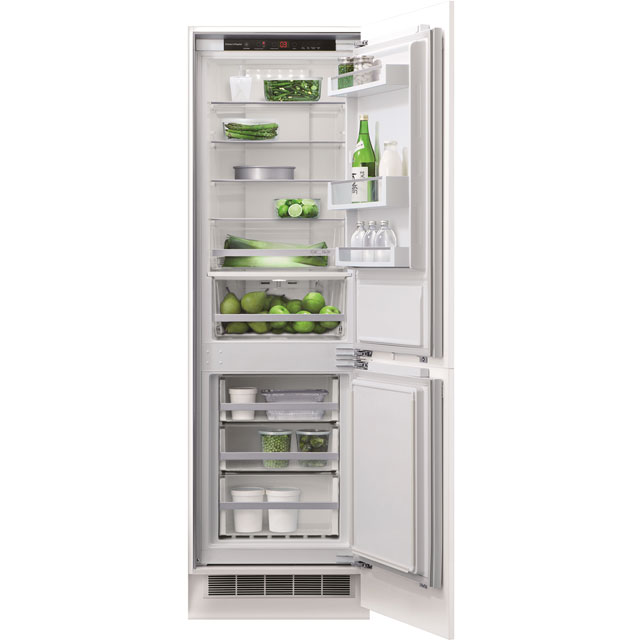 Fisher & Paykel Designer RB60V18 Integrated 70/30 Frost Free Fridge Freezer with Fixed Door Fixing Kit - White - A++ Rated - RB60V18_WH - 1