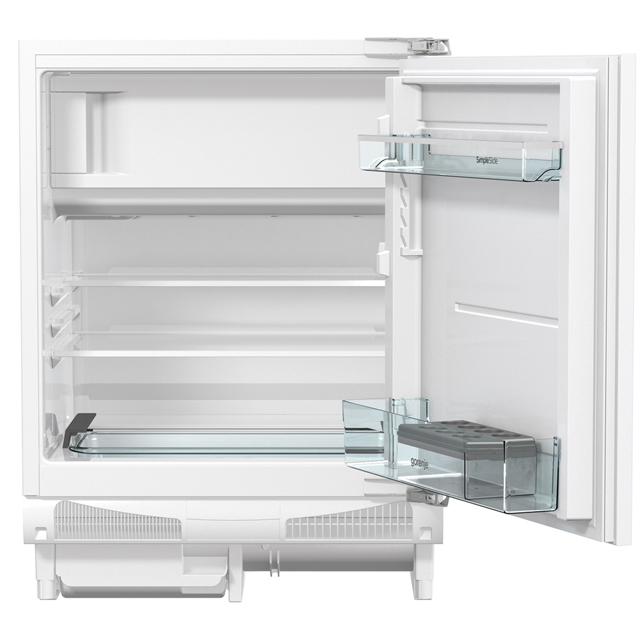 Gorenje Essential Line RBIU6F091AWUK Integrated Under Counter Fridge - Fixed Door Fixing Kit - White - A+ Rated - RBIU6F091AWUK_WH - 1