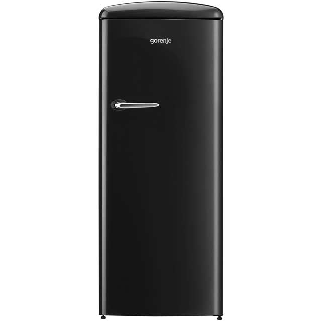 Gorenje Retro Collection RBO6153BK Fridge with Ice Box - Black - A+++ Rated - RBO6153BK_BK - 1