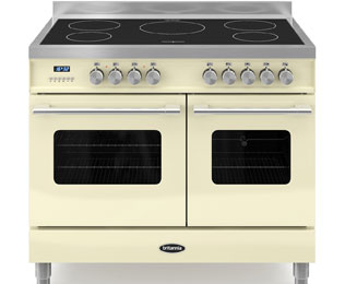 Britannia Delphi RC-10TI-DE-CR 100cm Electric Range Cooker with Induction Hob - Cream - A/A Rated - RC-10TI-DE-CR_CR - 1