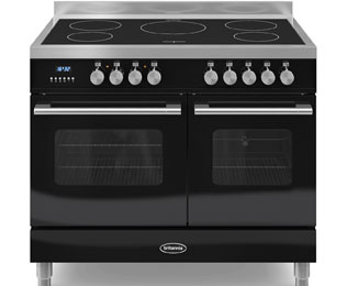 Britannia Delphi RC-10TI-DE-K 100cm Electric Range Cooker with Induction Hob - Black - A/A Rated - RC-10TI-DE-K_BK - 1