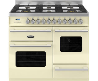 Britannia Delphi RC-10XGG-DE-CR 100cm Dual Fuel Range Cooker - Cream - A/A Rated - RC-10XGG-DE-CR_CR - 1