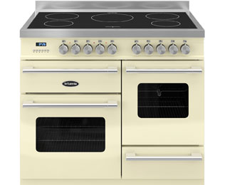 Britannia Delphi RC-10XGI-DE-CR 100cm Electric Range Cooker with Induction Hob - Cream - A/A Rated