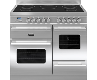 Britannia Delphi RC-10XGI-DE-S 100cm Electric Range Cooker with Induction Hob - Stainless Steel - A/A Rated