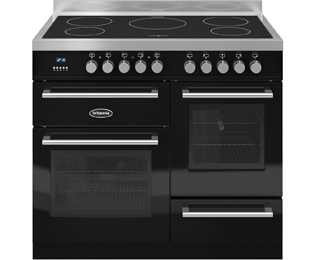 Britannia Q Line RC-10XGI-QL-K 100cm Electric Range Cooker with Induction Hob - Black - A Rated
