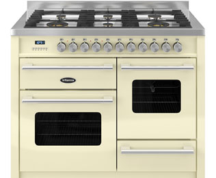 Britannia Delphi 100cm Dual Fuel Range Cooker - Cream - A/A Rated