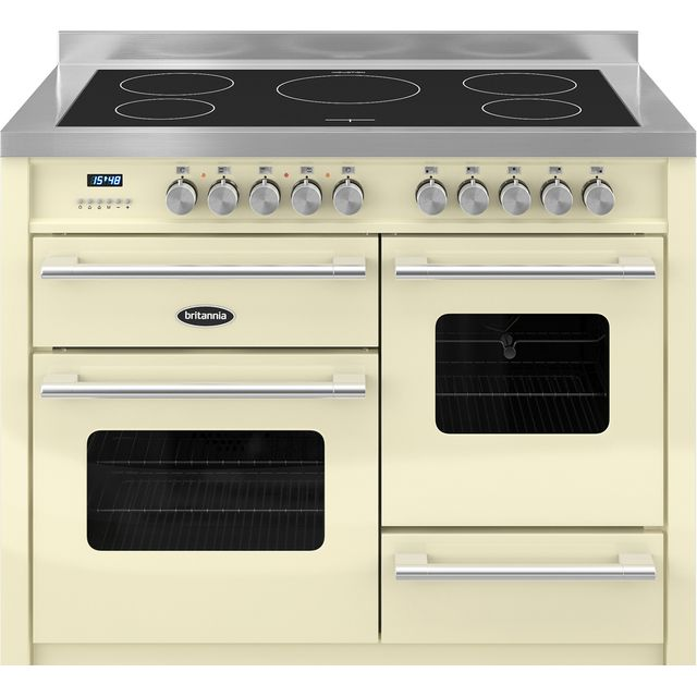 Britannia Delphi RC-11XGI-DE-CR 110cm Electric Range Cooker with Induction Hob - Cream - A/A Rated - RC-11XGI-DE-CR_CR - 1