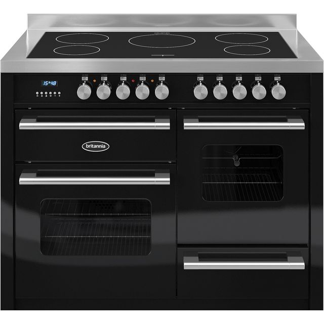 Britannia Delphi 110cm Electric Range Cooker with Induction Hob - Black - A/A Rated