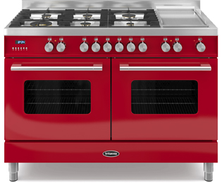 Britannia Delphi 120cm Dual Fuel Range Cooker - Red - A Rated