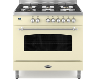 Britannia RC-9SG-FL-CR Fleet 90cm Dual Fuel Range Cooker - Cream - RC-9SG-FL-CR_CR - 1