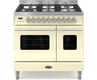 Britannia Delphi RC-9TG-DE-CR 90cm Dual Fuel Range Cooker - Cream - A/A+ Rated - RC-9TG-DE-CR_CR - 1