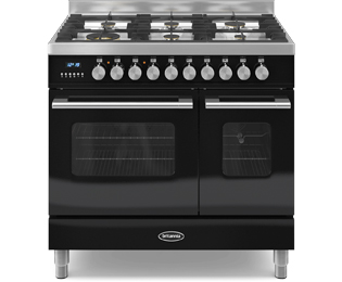 Britannia Delphi 90cm Dual Fuel Range Cooker - Black - A/A+ Rated