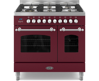 Britannia Fleet RC-9TG-FL-BUR 90cm Dual Fuel Range Cooker - Burgundy - A/A+ Rated