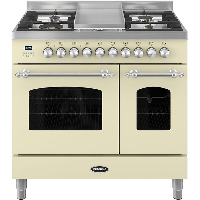 Britannia Fleet RC-9TG-FL-CR 90cm Dual Fuel Range Cooker - Cream - A/A+ Rated - RC-9TG-FL-CR_CR - 1