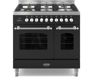 Britannia Fleet 90cm Dual Fuel Range Cooker - Black - A/A+ Rated