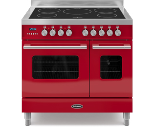Britannia Delphi RC-9TI-DE-RED 90cm Electric Range Cooker with Induction Hob - Red - A/A+ Rated - RC-9TI-DE-RED_RD - 1