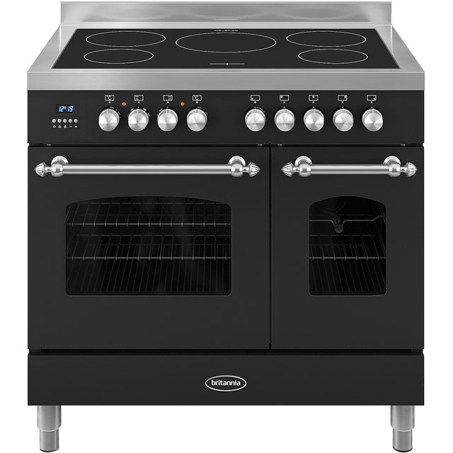 Britannia Fleet 90cm Electric Range Cooker with Induction Hob - Black - A/A+ Rated