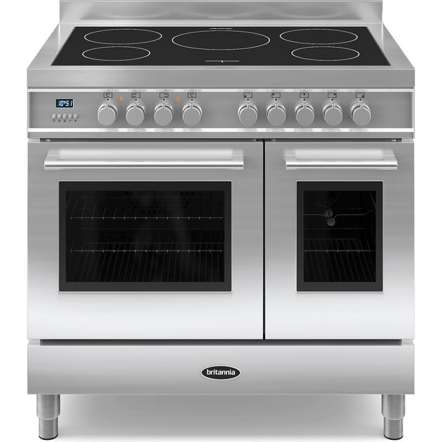 Britannia Q Line RC-9TI-QL-S 90cm Electric Range Cooker with Induction Hob - Stainless Steel - A/A+ Rated - RC-9TI-QL-S_SS - 1