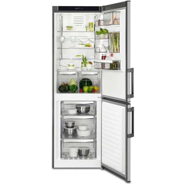 AEG RCB53325VX 60/40 Frost Free Fridge Freezer - Stainless Steel - A++ Rated - RCB53325VX_SS - 1