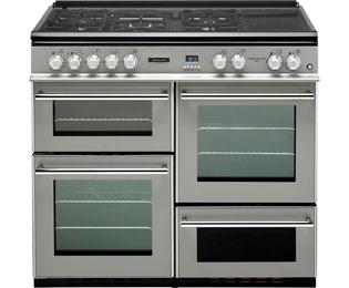 Product image for Leisure RCM10FRSP Dual Fuel Range Cooker Silver