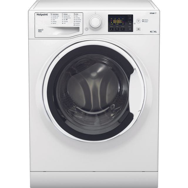 Hotpoint RDG8643WWUKN 8Kg / 6Kg Washer Dryer with 1400 rpm - White - RDG8643WWUKN_WH - 1