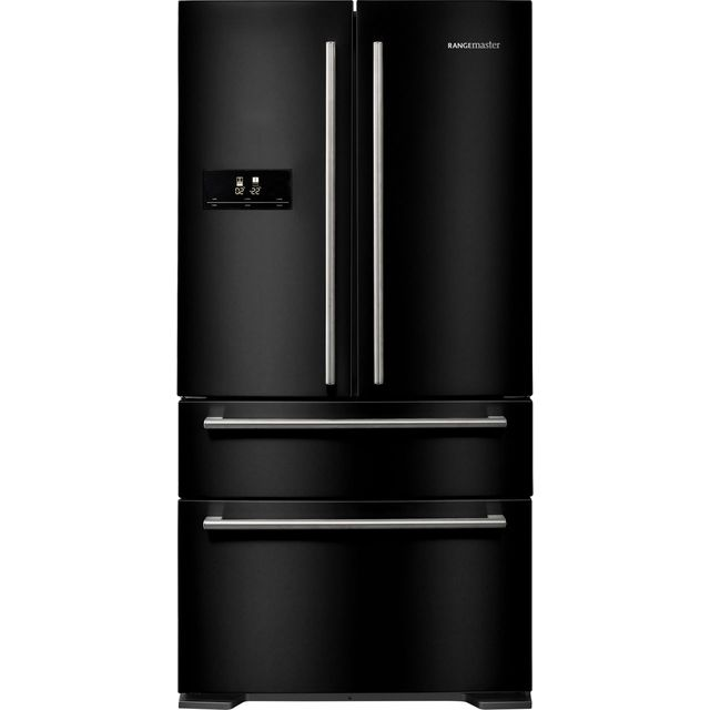 Rangemaster DXD RDXD18BL/C American Fridge Freezer - Black - A+ Rated Best Price, Cheapest Prices