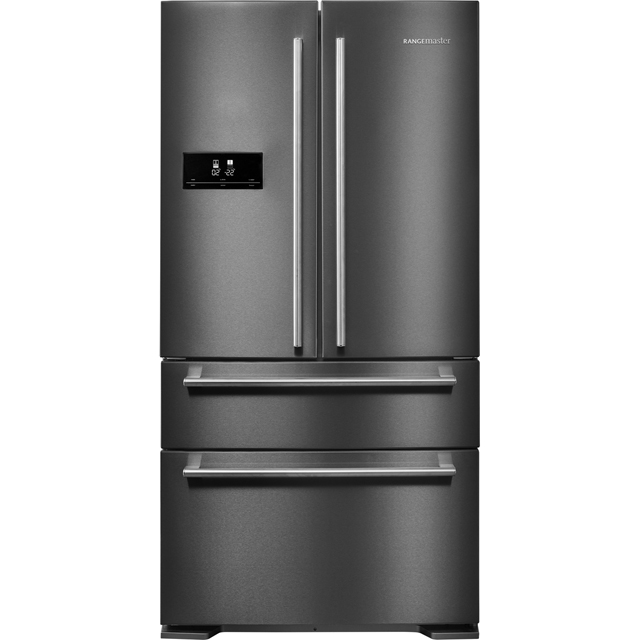 Rangemaster DXD RDXD18DI/C American Fridge Freezer - Dark Silver - A+ Rated Best Price, Cheapest Prices