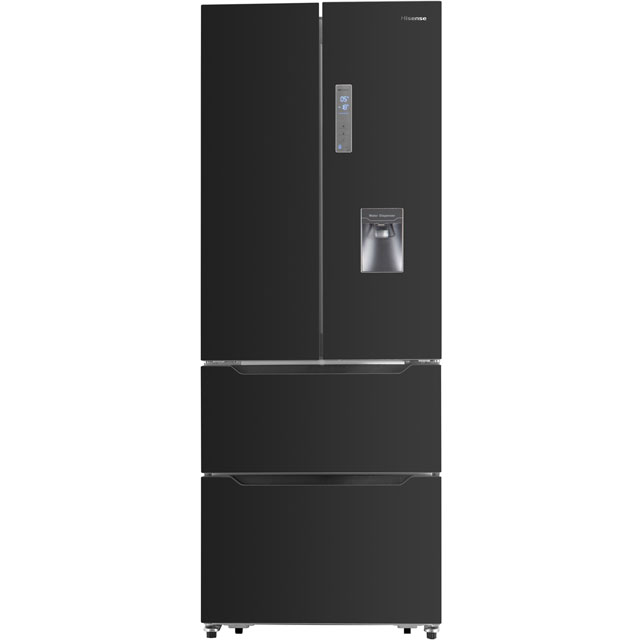 Hisense RF528N4WB1 Free Standing American Fridge Freezer in Black
