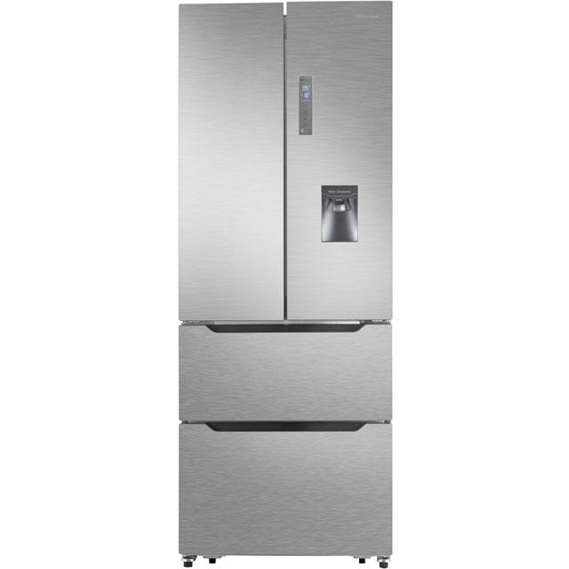 Hisense RF528N4WC1 Free Standing American Fridge Freezer in Stainless Steel Effect