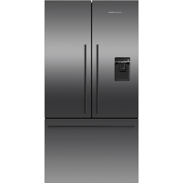 Fisher & Paykel RF540ADUB5 American Fridge Freezer - Black Steel - A+ Rated Best Price, Cheapest Prices