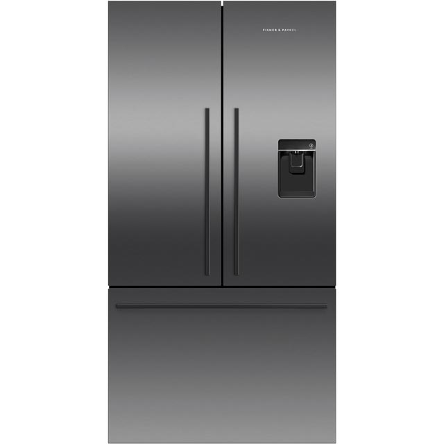 Fisher & Paykel RF540ADUB5 American Fridge Freezer - Black Steel - A+ Rated