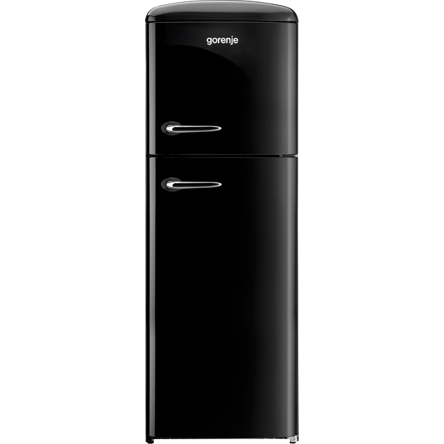 Gorenje Retro Collection RF60309OBK 70/30 Fridge Freezer - Black - A++ Rated Best Price, Cheapest Prices