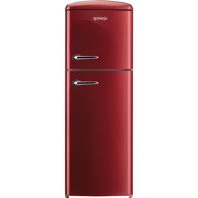 Gorenje Retro Collection RF60309OR 70/30 Fridge Freezer - Burgundy - A++ Rated - RF60309OR_BUR - 1