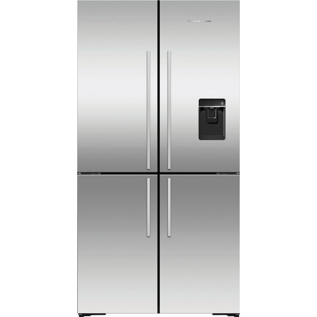 Fisher & Paykel Designer RF605QDUVX1 American Fridge Freezer - Stainless Steel - A+ Rated - RF605QDUVX1_SS - 1