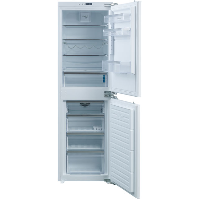 Rangemaster RFXF5050/INT Integrated 50/50 Frost Free Fridge Freezer with Fixed Door Fixing Kit - White - A+ Rated - RFXF5050/INT_WH - 1